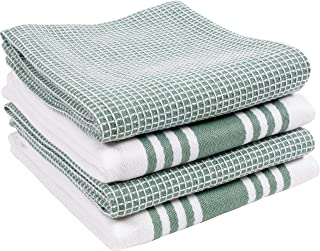 KAF Home Kitchen Towels, Set of 4 Absorbent, Durable and Soft Towels | Perfect for Kitchen Messes and Drying Dishes, 18 x 28 – Inches, Sage