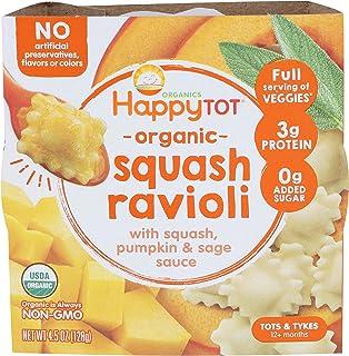 Happy Tot, Love My Veggies Bowls Squash Ravioli Organic, 4.5 Ounce