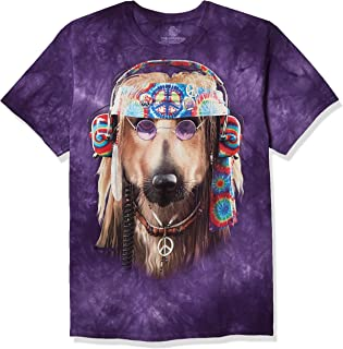The Mountain mens The Mountain Men's Peace Tree Frog Short Sleeve T-shirt Groovy Dog (pack of 1)