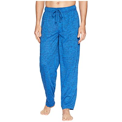 Jockey Tiger Heather Knit Sleep Pants (Strong Blue/Caviar) Men