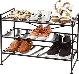 Simple Houseware 3-Tier Stackable Shoes Rack Storage Shelf, Bronze