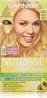 Garnier Nutrisse Ultra Color Nourishing Color Creme, LB3 Ultra Light Beige Blonde (Packaging May Vary)