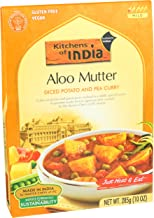 Kitchens of India Ready to Eat Aloo Mutter, Diced Potato and Pea Curry, 10-Ounces (Pack of 6)