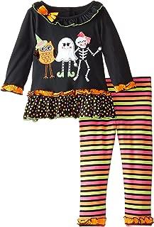 Little Girls' Halloween Applique Legging Set