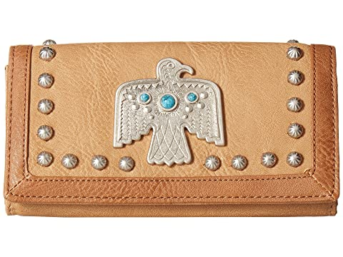 American West Guns And Roses Flap Wallet Tan Cheap Amazon Outlet The Cheapest 3qfqm8E6XT