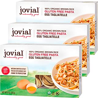 Jovial Egg Tagliatelle Gluten-Free Pasta | Whole Grain Brown Rice Egg Tagliatelle Pasta | Lower Carb | Kosher | USDA Certi...