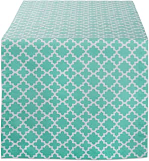 DII Lattice Cotton Table Runner for Dining Room, Foyer Table, Spring Parties and Everyday Use - 14x72