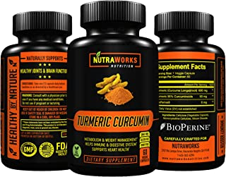 Turmeric Curcumin with Bioperine - Extra Strength Premium Pain Relief & Joint Support Supplement with 95% Standardized Cur...