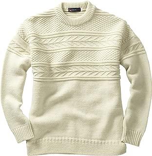 Tazzio Uomo Fashion A Maglia-Pullover con scollo a girocollo ECRU