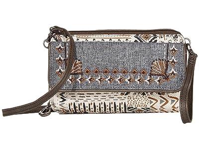 Sakroots Luna Smartphone Crossbody (Natural Brave Beauti) Cross Body Handbags