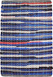 COTTON CRAFT - Hand Woven Reversible 100% Cotton Multi Color Chindi Rug - 30 x 48 Inches - Rug is Made from Multi Color re-cycled Yarns, Actual Product May Vary in Color from The Image Shown
