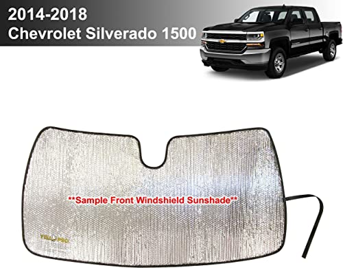 wholesale YelloPro discount Custom Fit discount Reflective Front Windshield Sunshade for 2014 2015 2016 2017 2018 Chevrolet Silverado 1500, Regular cab, Crew cab, Double Cab 2Dr 4Dr [Made in USA] outlet online sale