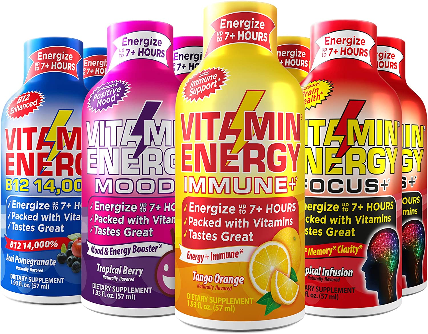 8-Pack 2 of Mail Special price for a limited time order Each VitaminEnergy™ Mood+ Shots Focus+ Immune -