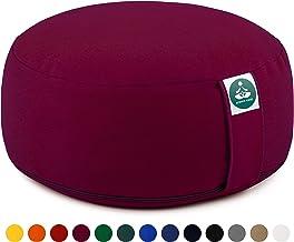 Present Mind Yogakissen Meditationskissen Zafu Rund - Sitzhöhe 16cm - Natürlicher, waschbarer Bezug