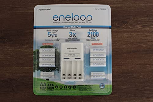 Panasonic Eneloop Charger Battery Pack 8 x AA 4 x AAA Recharge Upto 2100 Times