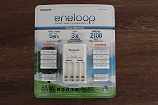 Panasonic Eneloop Charger Battery Pack 8 x AA 4 x AAA Recharge Upto 2100 Times