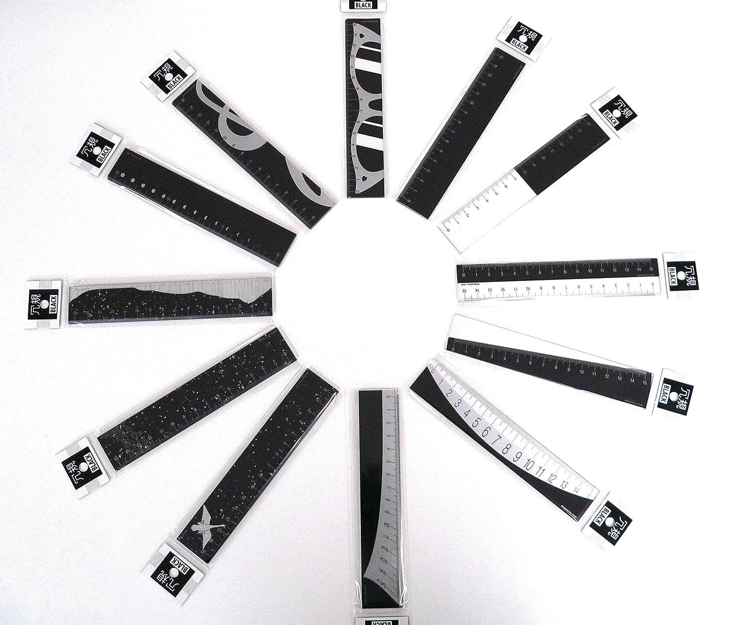 通知軽減支給プラスチック加工専門店 【井上製作所】  冗規 BLACKシリーズ (MB-001~MB-012)  12種類 セット