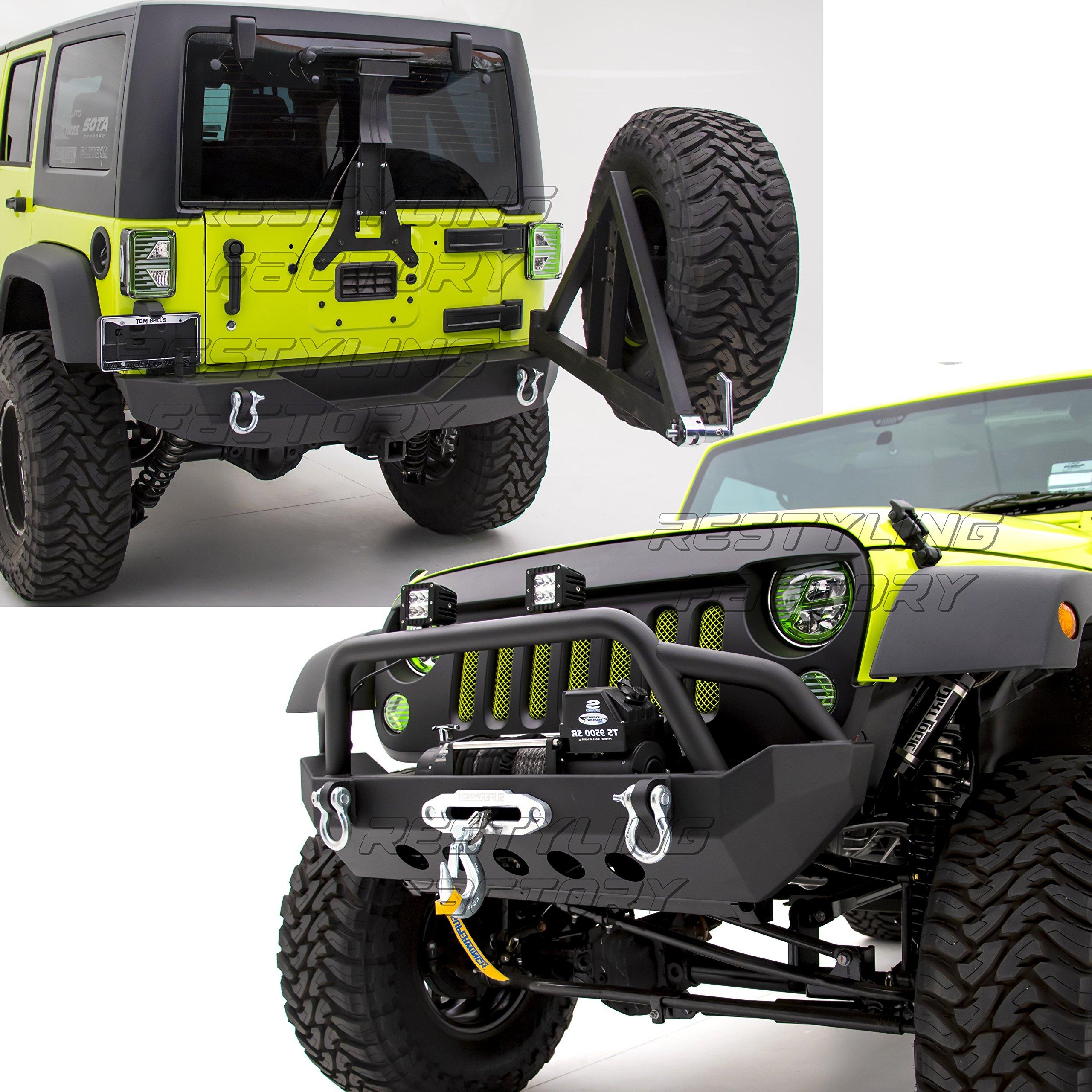 2008 jeep wrangler bumper combo with winch amazon com Jeep Wrangler Jk Winch Bumpers