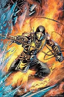 Trends International Mortal Kombat-Scorpion Comic Clip Wall Poster, 22.375