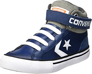 Converse Little Kids Pro Blaze Strap Leather and Suede Hi Top Shoe (Navy/Storm Wind/White)