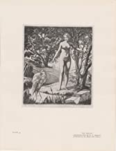 The Brook - Standing Woman with a Heron - Nude - 1930 Photogravure