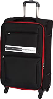 United Colors of Benetton Polyester 50 cms Black Softsided Cabin Luggage (0IP6EAS20F03I)