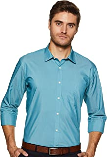 Amazon Brand - Symbol Men's Formal Fil a Fil Regular Fit Shirt