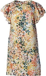 Donna Morgan Women's Flutter Sleeve Poly Twill Shift Dress