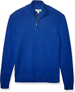 Amazon Brand - Goodthreads Men's Soft Cotton Long-Sleeve Quarter Zip Sweater