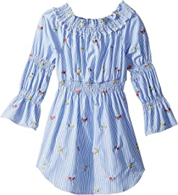 Smocked Shirtdress with Floral Embroidery (Big Kids)