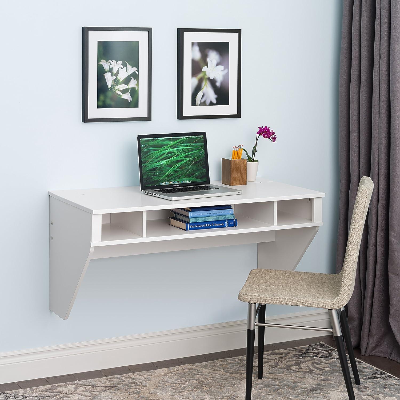 Prepac Designer Floating Desk, White