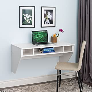 Wall Mounted Designer Floating Desk in White