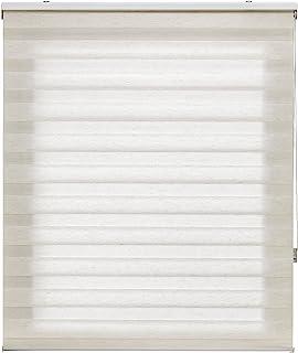 Blindecor Lira. Estor Enrollable de Doble Capa, Noche y Día. Lino-Crema, 180X180 cm (Ancho x Largo), 180X180