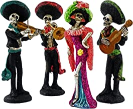 Gerson Day of The Dead Mariachi Skeleton Band Mini Figurines - Set of 4
