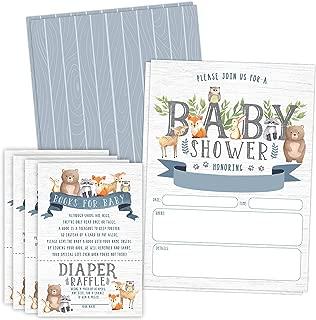 baby shower animal invitation