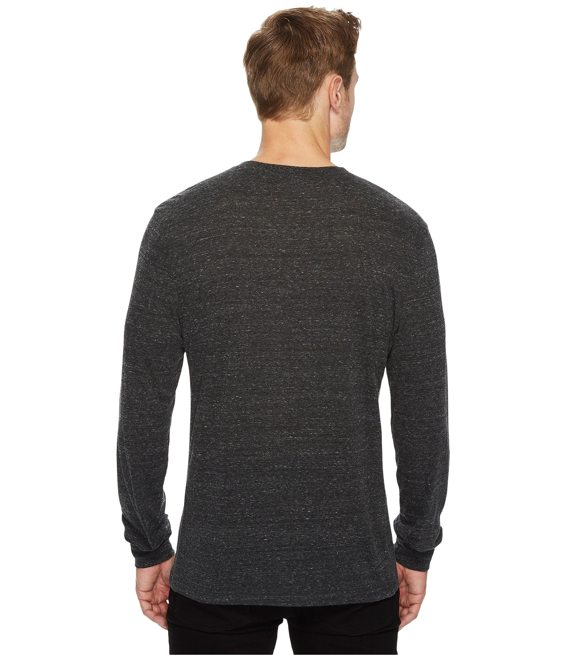 Sleeved Heather blend Black Threads Tri 4 Thought Long Henley wqp0XpS7