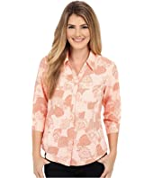 Royal Robbins - Expedition Stretch 3/4 Sleeve Print Top