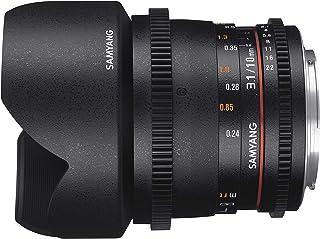 Samyang F1322506101 - Objetivo para vídeo VDSLR para Sony E (Distancia Focal Fija 10mm Apertura T3.1-22 ED AS NCS CS II) Negro