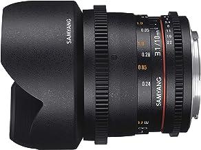Samyang F1322503101 - Objetivo para vídeo VDSLR para Nikon F (Distancia Focal Fija 10mm, Apertura T3.1-22 ED AS NCS CS II), Negro