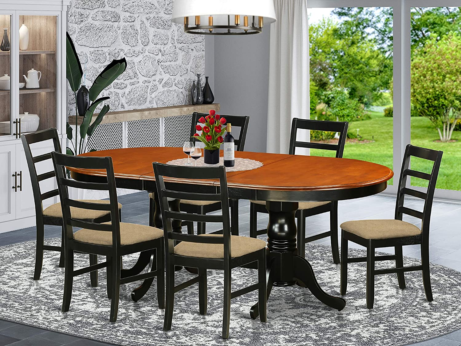 7 PC Dining room set-Dining Table with Popular brand in the world Chairs Wooden High quality new 6