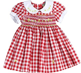 Infants and Toddlers (12M-4T) Soft Cotton Plaid Hand Smocked Dress | Cacey Cohen's Classic Plaid
