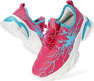 BRONAX Chaussure de Course Sport Running Shoes Competition Légères Mode Garçon Fille 28-37