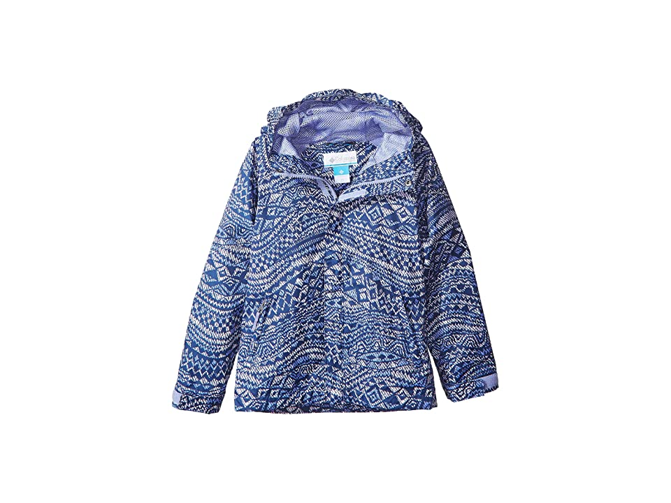 Columbia Kids Fast Curious Rain Jacket (Little Kids/Big Kids) (Fairytale Wave Print/Fairytale) Girl