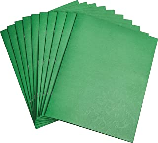 Amazon Basics Two Pocket Paper Portfolio with fastener, Green, 10-Pack