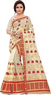 SKiran's Assamese Weaving Checks Gadi Diya Cotton Mekhela Chador Saree - Dn 3552 Mekhla Sador (Red)