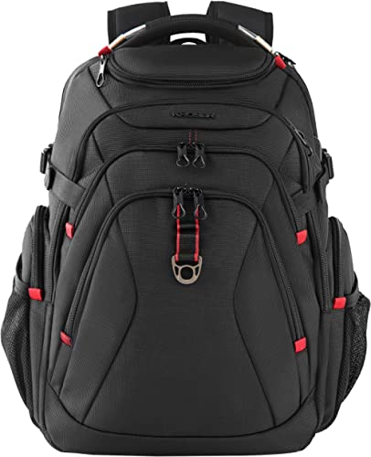 KROSER Travel Laptop Backpack 17.3 Inch XL Heavy Duty Computer Backpack with USB Charging Port RFID Pockets Water-Rep...