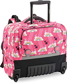 "DELSEY PARIS - BACK TO SCHOOL 2020 - SAC A DOS TROLLEY WHEELS PACK SYSTEME HORIZONTAL ERGONOMIQUE 15.6"" - Rose"