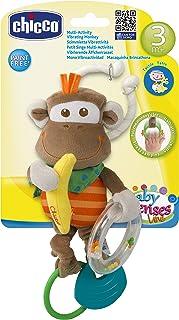 Brinquedo de Carrinho Macaco Treme-Treme, Chicco, Marrom