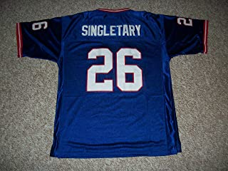 Unsigned Devin Singletary #26 Buffalo Custom Stitched Blue Football Jersey Various Sizes New No Brands/Logos