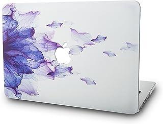 KECC MacBook Air 13 Pulgadas Funda Dura Case Cover MacBook Air 13.3 Ultra Delgado Plástico {A1466/A1369} (Flor Púrpura)